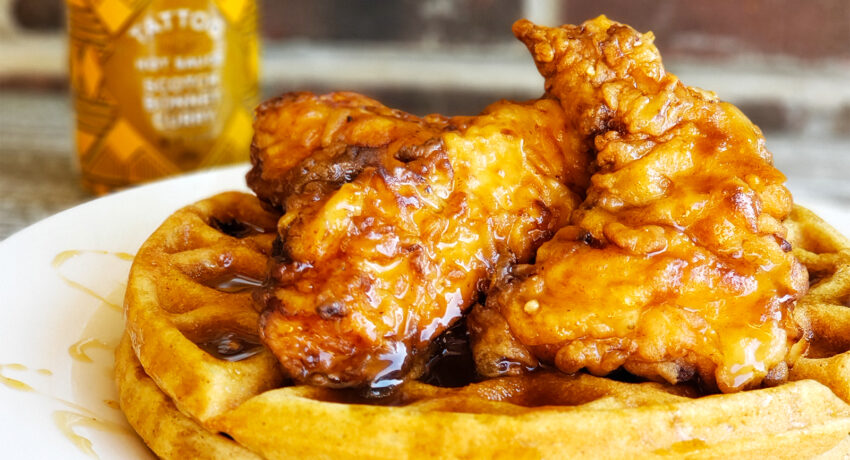 Chicken and Waffles with Spicy Maple Syrup